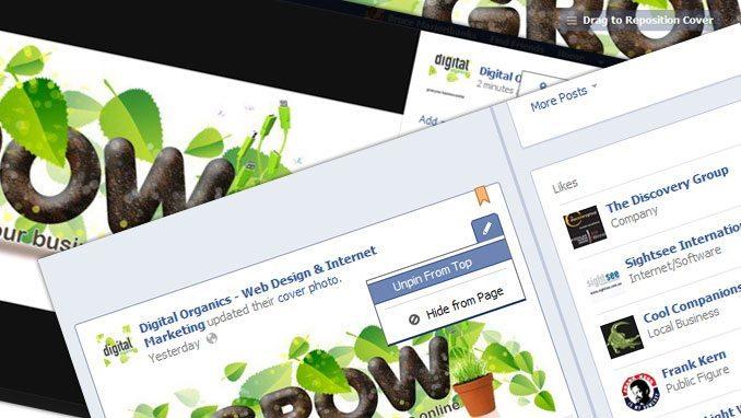 Add a Facebook Cover Image | Web Design Digital Organics